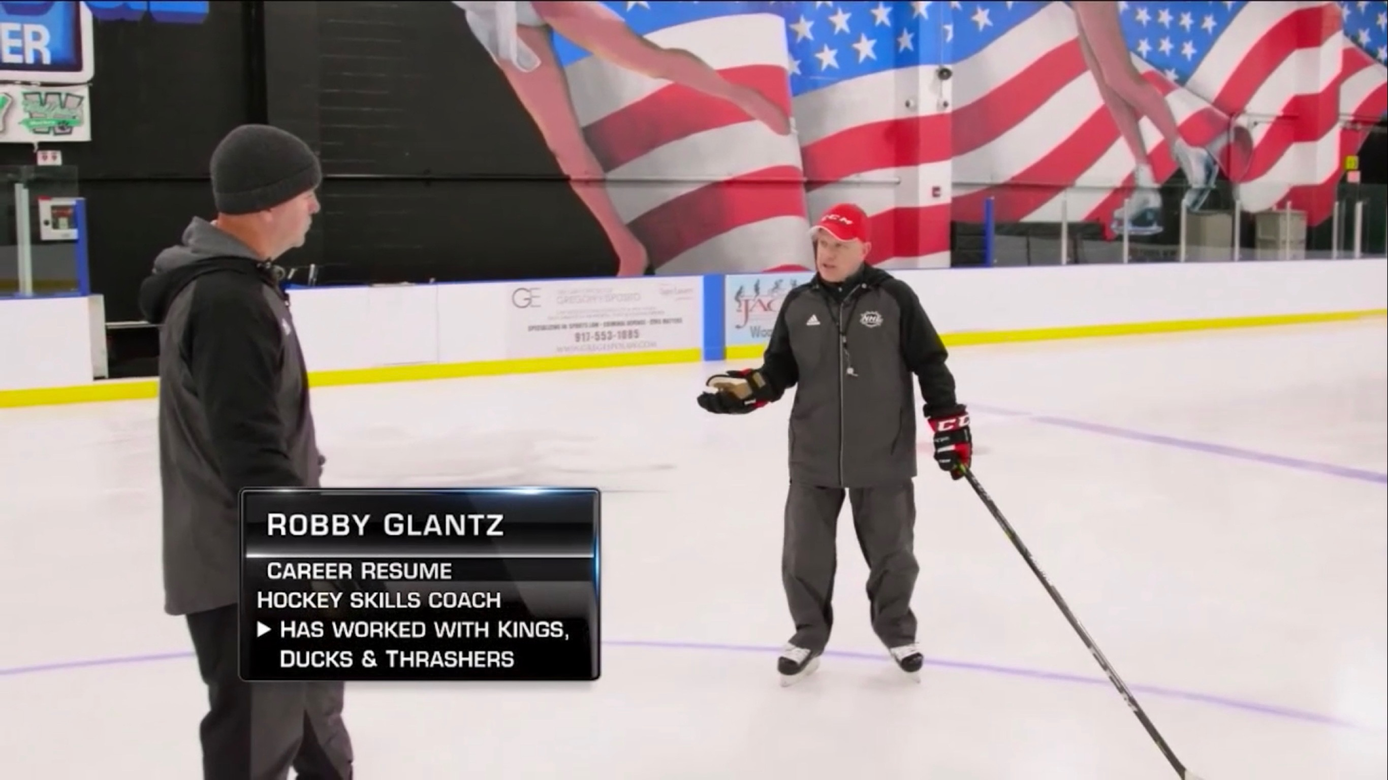 NHL Network – On-Ice Demo – 2/23/18 – Robby & Alex Tanguay Show the Open Feet/Hips Move!