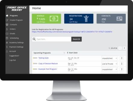 Front Office Hockey Software:  The MOST User-Friendly, Cost-Effective Sports Software Anywhere!!