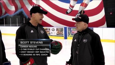 NHL Network – On-Ice Demo – Hall of Famer Scott Stevens & Robby w/ Defenseman Skating Tips!